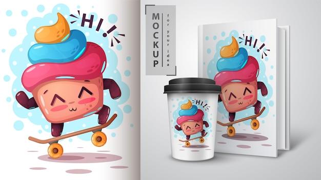 Skate cake and merchandising