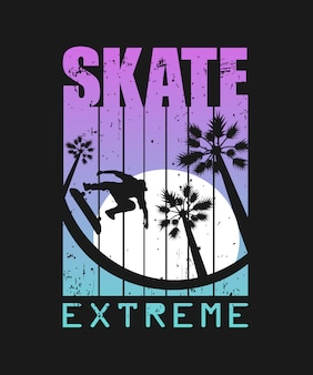 Skate extreme sport illustration