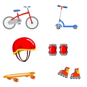 Skate safety protect health guard ride vector illustration preschool