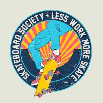 スケートボードイラストデザイン