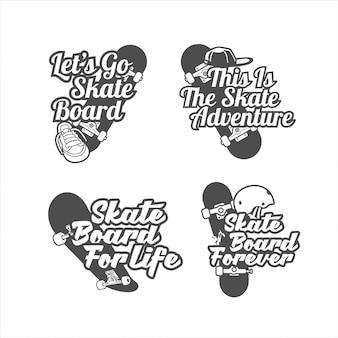 Skateboard logo set design