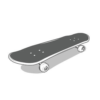 Skateboard in monochrome style