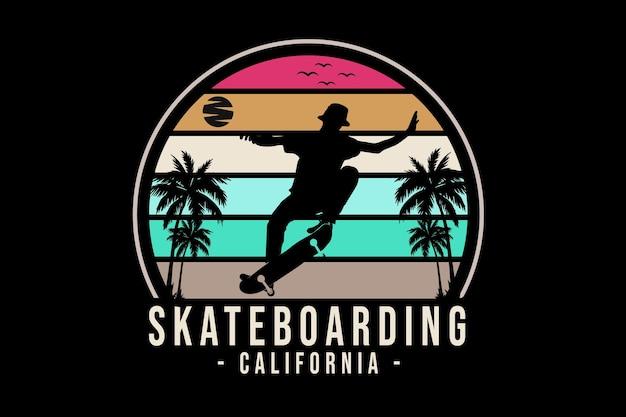 Skateboarding california silhouette design