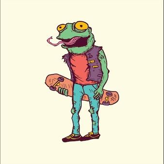Скейтбординг лягушка