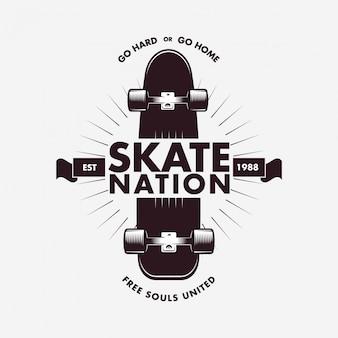 Skateboarding Label Badge