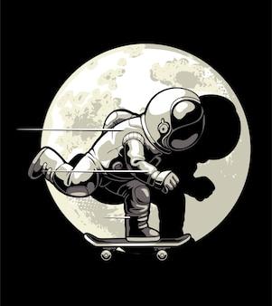Skateboarding in the moon