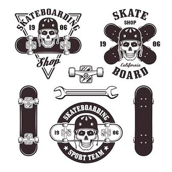 스케이트 보드 엠블럼 세트