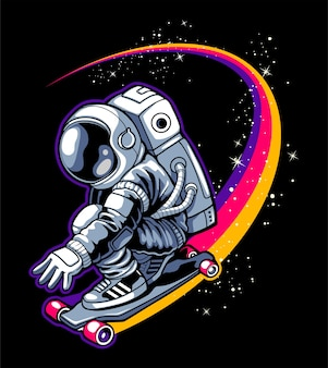 Skateboarding in the sky