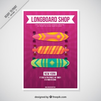 Modello skateboards volantino