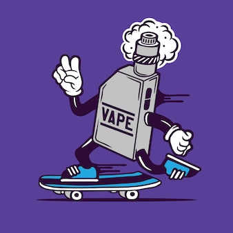 Skater vape скейтбординг дизайн персонажей