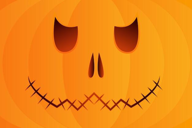 해골 얼굴 할로윈 호박, 할로윈 디자인을 위한 미소를 가진 주황색 호박. 벡터 일러스트 레이 션.