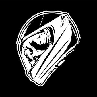Skeleton wearing full face helmet