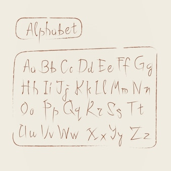 Sketch alphabet letters collection text font set