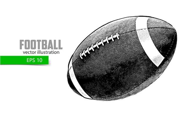 Sketch of an american football ball