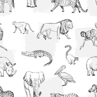 Эскиз животных шаблон.