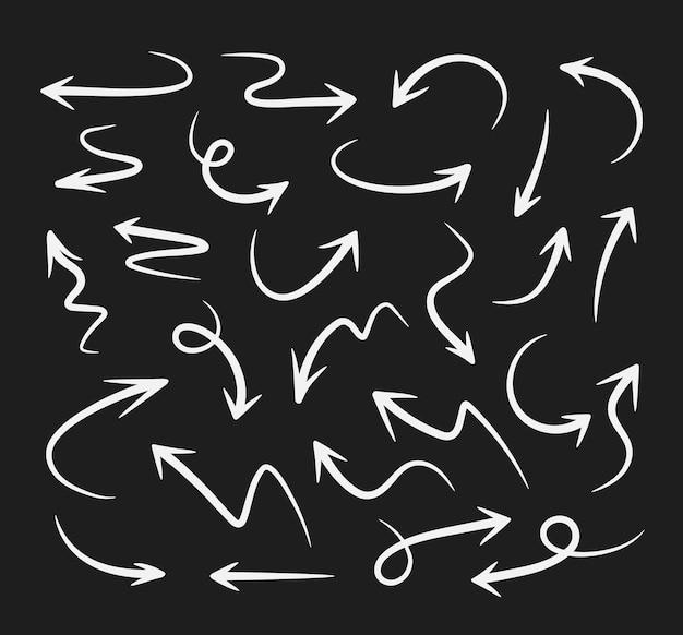 사업 계획 및 교육을 위한 스케치 화살표 디자인