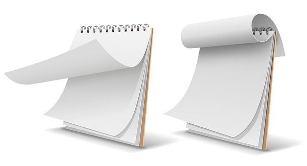Sketch book white paper, template