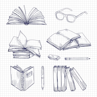 Sketch books and stationery set