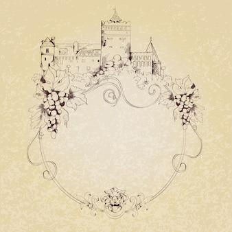 Sketch castle background