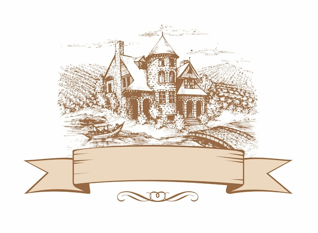The sketch of the castle