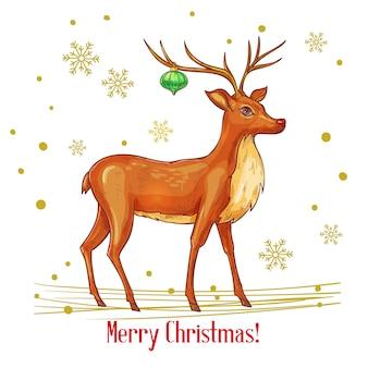 Sketch christmas deer