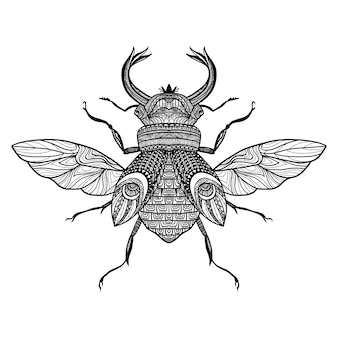 Sketch bug decorativo