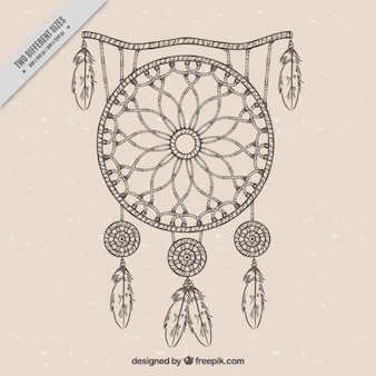 Sketch dreamcatcher background