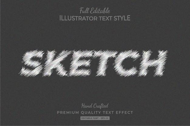 Sketch editable 3d text style effect premium