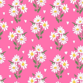 스케치 꽃 camomile 원활한 패턴