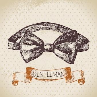 Эскиз джентльменского аксессуара. нарисованная рукой иллюстрация мужчин