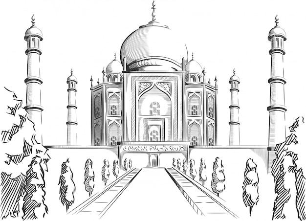 Sketch of india landmark