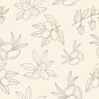스케치 견과류 원활한 패턴