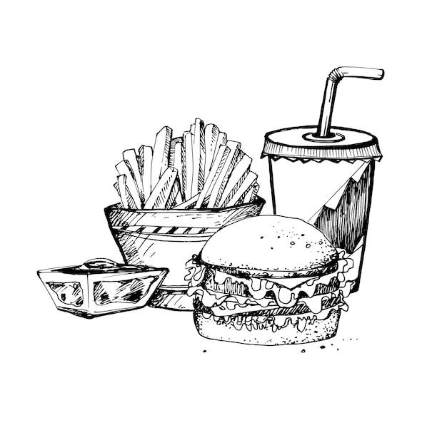 食べ物のスケッチ