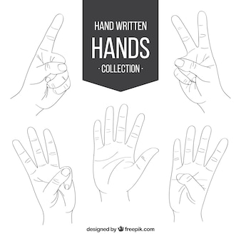 Sketch of sign language
