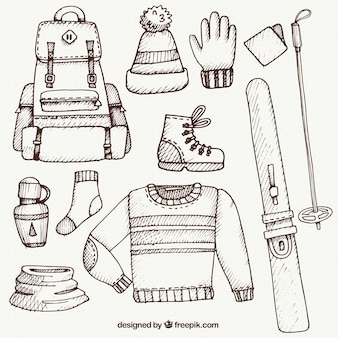 Sketch ski clothes and accessories pack