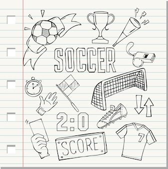 Sketch of soccer ball icon