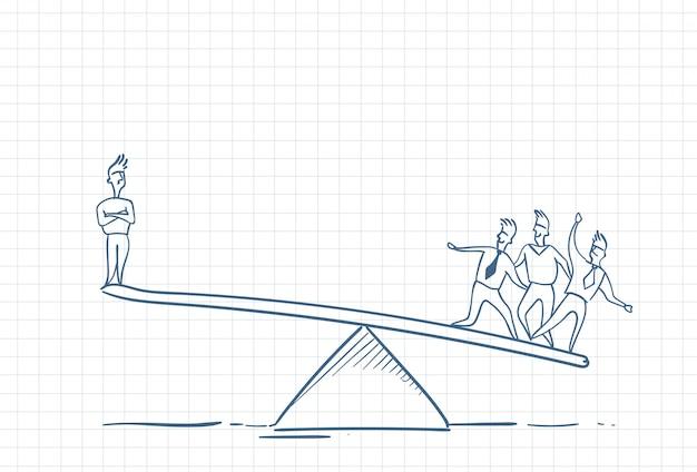Sketch of a teamleader raised by team