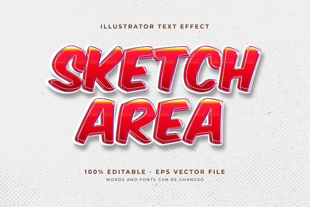 Sketch text effect concept