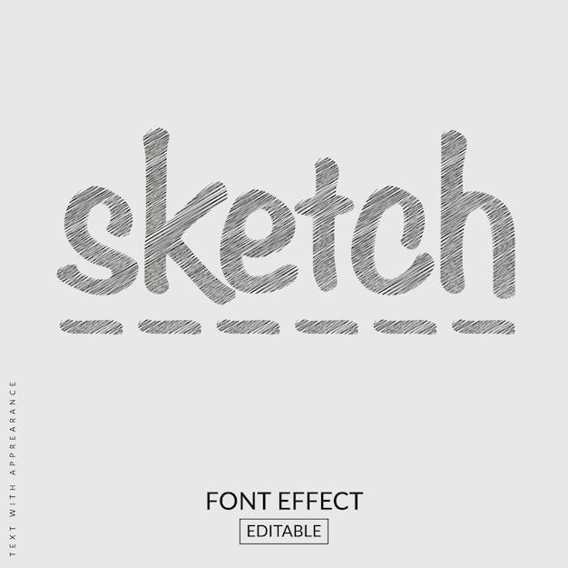 Sketch text font effect