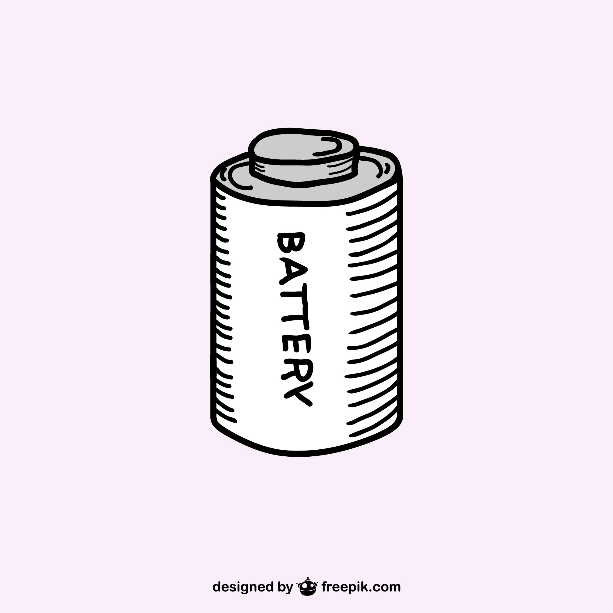 Sketched battery