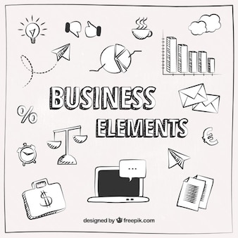 Sketched business elements