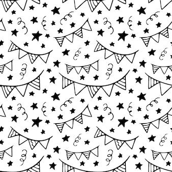 스케치 된 축제 패턴.
