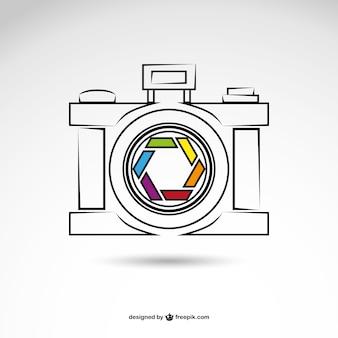 写真撮影のロゴベクトル