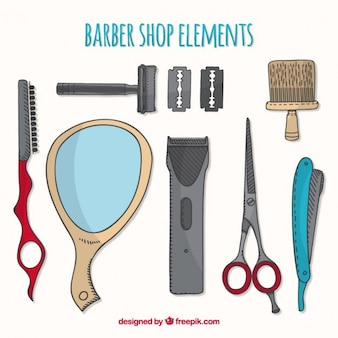 Sketches barber element collection