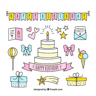 Sketches birthday decoration