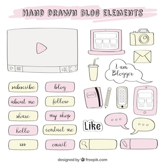 Sketches of blog elements