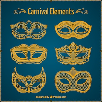 Sketches carnival masks pack