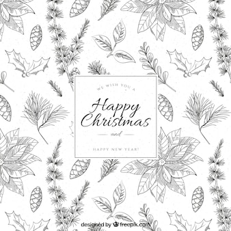 Sketches christmas background