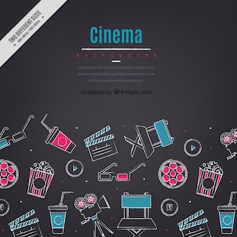 Sketches cinema elements background