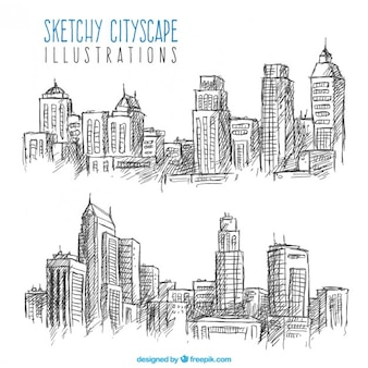 Sketches of cityscapes